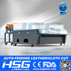 HS-T1610R Auto feeding label cloth co2 textile laser cutting machinery