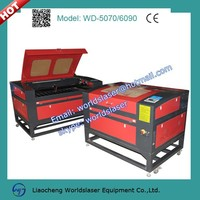 60W CO2 mini laser engraving machine price 6090 for engraving acrylic,wood,glass,leather