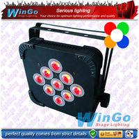 best price led flat par light 9*15w rgbaw dj uplighting par64
