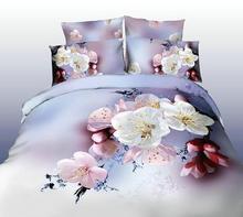 100% Combed Cotton 400TC Jacquard print and hemstitch Duvet Cover Sets, Sheet Set, Bedding Set