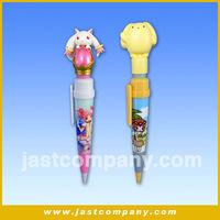 Cartoon Shape Talking Pen, Cute Animal Head Talking Plastic Pen, Talking Pen