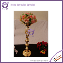 K5319 Hot sales Guangzhou wrought iron wedding centerpiece vases