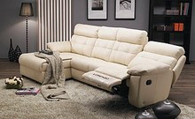 Italian top l shape leather reclining sofa living room furniture leather sofa set