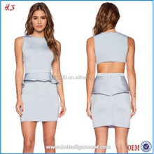 Top selling casual style ladies office wear latest dress design