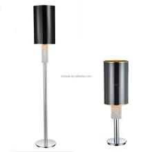 2015 Metal art PVC plastic shade floor lamp with chrome base hot sell model ML2258