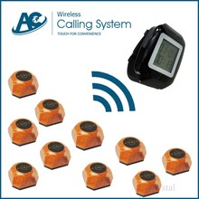 10 call button and 1 watch high-end high-end wireless wrist watch pager paging system