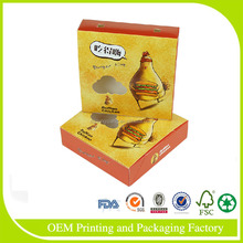 High end design decorated laminated fantastic paper pizza box