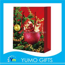 2015 new designed popular red christmas tree shopping gift bag