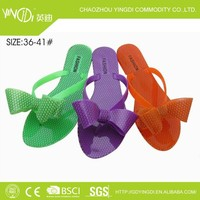summer sweet women candy color PVC upper butterfly flower wedge heels jelly shoes