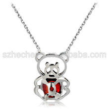 VOGEM Jewelry 18 k Gold Plating Lovely Crystal Bear Pendent Necklace