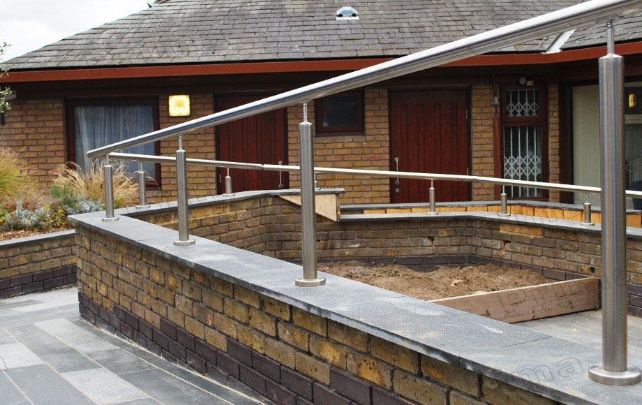 wall mounted steel pipe stair handrail view steel pipe stair
