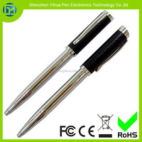 Configuration to order leather ball pen,High quality low price leather barrel metal ball-point pen