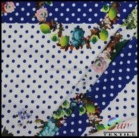 100% Polyester silk Chiffon printed fabric chiffon flower girl dress patterns