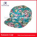 Mini solar al por mayor en blanco personalizado Impresión Floral Flores diseñar su propio panel hat cap 5