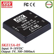 Meanwell SKE15A-05 dc 12v to 5v converter 15w