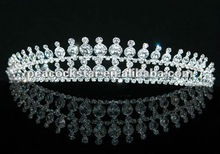 Bridal Wedding Sparkling Tiara with Austrian Crystal CT1244