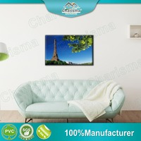 Decorative full colors printed wall art oil Eiffel paintings for indoor decoration