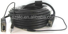 Manufacture stc cable 15PIN VGA HD15 to RGB 3 RCA Component TV HDTV Cable 1.5M