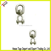 Heavy Duty Galvanized Carbon Steel Jaw End Lifting Swivel for Chains