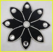 Flower Design Glass Rhinestone Hot Fix Applique/Rhinestone Patch