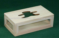 2013 new designed carved wooden bear-shaped tissue box with acrylic sheets for sale