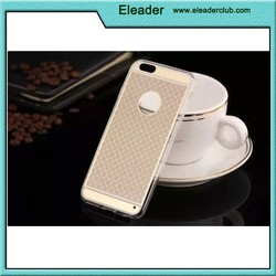 Fashionable case with hole on back for iphone 6, for iphone 6 transparent tpu case, clear crystal case for iphone 6