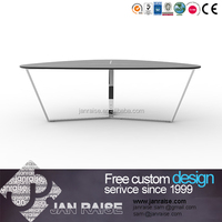 Economic Chinese style high quality glass top coffee table