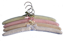 HH brand pure color coat padded hangers with open hooks perfect for any closet
