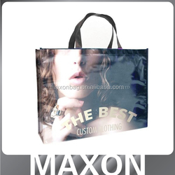 custom promotional cheap logo excellent quality shiny shopping tote laminated non woven bag,laminated non woven bag