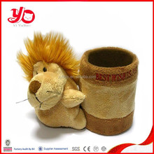 2015 Manufacturer of Youth Olympic Games Mascot factory supply plush toy lion with brush port