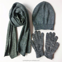 Factory wholesale three-piece hat scarf and gloves