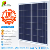 Powerwell Solar 100w polycrystalline solar modules high efficiency fiexible solar panel china price with all certificatse