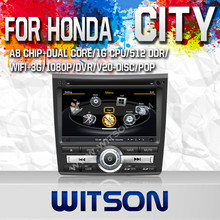 WITSON FOR HONDA CITY 2011 NAVIGATION WITH 1.6GHZ FREQUENCY DVR SUPPORT RAM 8GB FLASH BLUETOOTH GPS WIFI