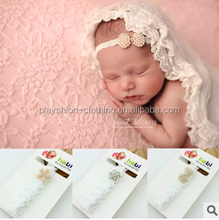 Fashion style beautiful hairband baby girls flower pearl kids hair accessories