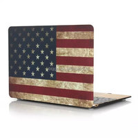 Top Quality For Macbook Case Top Case Rubberized Frosted Flag Hard Case