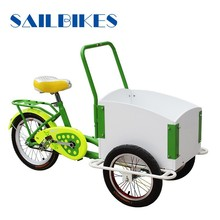2015 new model kids cargo tricycle with reinforced steel frame