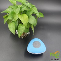 Mushroom wireless IPX 4 waterproof portable bluetooth speaker with suction cup with CE, FCC,BQB,Rohs certification
