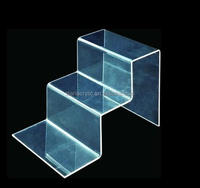 Transparent Acrylic Shoe Bag Jewelry Display Riser, Promotional Stepped Acrylic Display Rieser