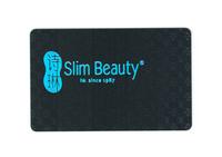 Slim Beauty Membership Card, QR Code and Emboss Code Card, Matte Discount Card