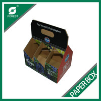 BEVERAGE INDUSTRY CORRUGATED 6 PACK BOTTLES JUICE HOLDER PAPER CARTON CARRIERS WITH HANDLE