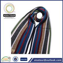 Nueva rayas tejidas de acrílico bufanda para hombre