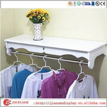 wood clothing hanging wall shelf, cloth folding wall shelf, clothes display wall shelf