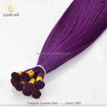 Aliexpress Good Feedback Private Label Best Price Top Quality Double Drawn No Shedding No Tangle human hair weave purple