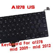 Original keyboard for macbook A1278 13.3 inch US black