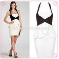 preto e branco vestido de noite formal dress império couture