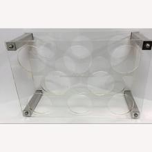 2015 Clear Acrylic 8-Bottle Wine Rack