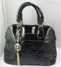 2015 Top quality fashion lady bright black handbag female trendy bag classical style