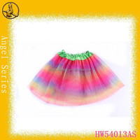 Rainbow color birthday dress for baby girl