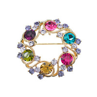 Yiwu Jewelry Manufacturer Wholesale Bouquet fashion Rhinestone brooch for Wedding Decoration
