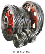 High quality precision heated cast steel cast iron metal double helical gear